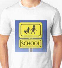 yellow school sign Unisex T-Shirt