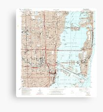 USGS TOPO Map Florida FL Miami 347455 1988 24000 Canvas Print