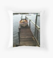 safe harbour Throw Pillow