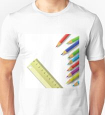 ruler and pencils Unisex T-Shirt
