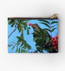 Berry Happy Blackbird - Juvenile Blackbird - NZ Studio Pouch
