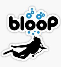 Diving: bloop Sticker