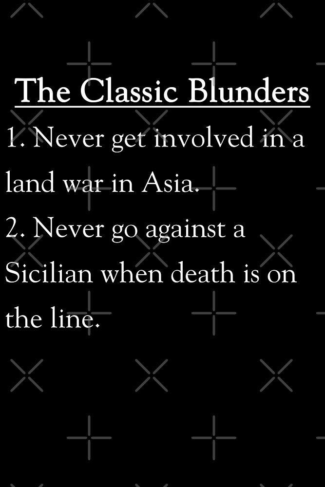 The Classic Blunders by PKHalford