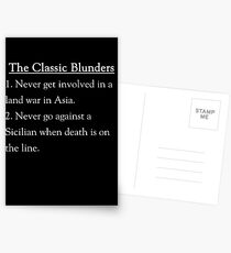 The Classic Blunders Postcards