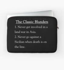 The Classic Blunders Laptop Sleeve