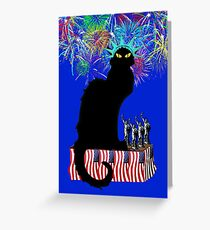 Lady Liberty - Patriotic Le Chat Noir  Greeting Card