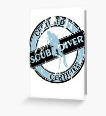 Certified Scuba Diver Greeting Card