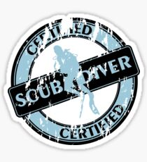 Certified Scuba Diver Sticker