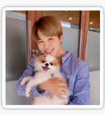 BTS Jimin with cute dog! Sticker