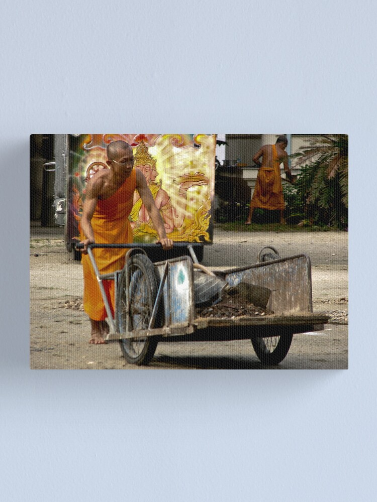 Alternate view of Powerful Monks Canvas Print