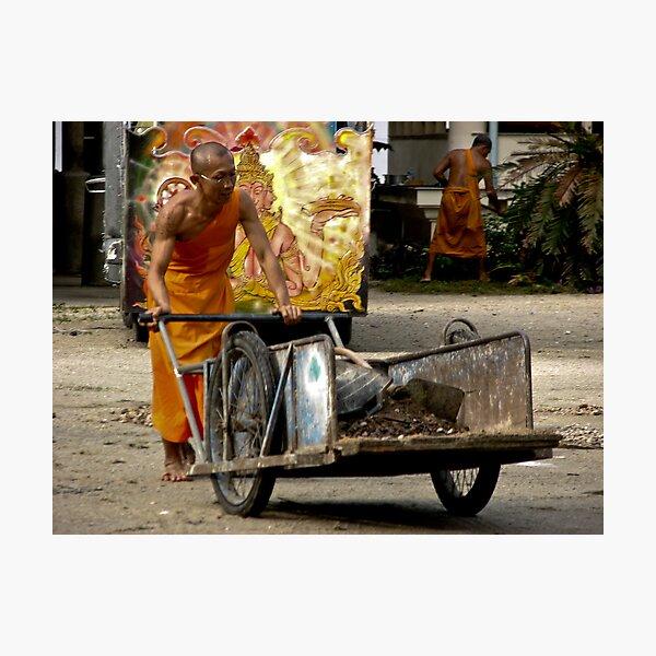 Powerful Monks Photographic Print