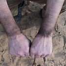 working hands of chimney-sweeper by mrivserg