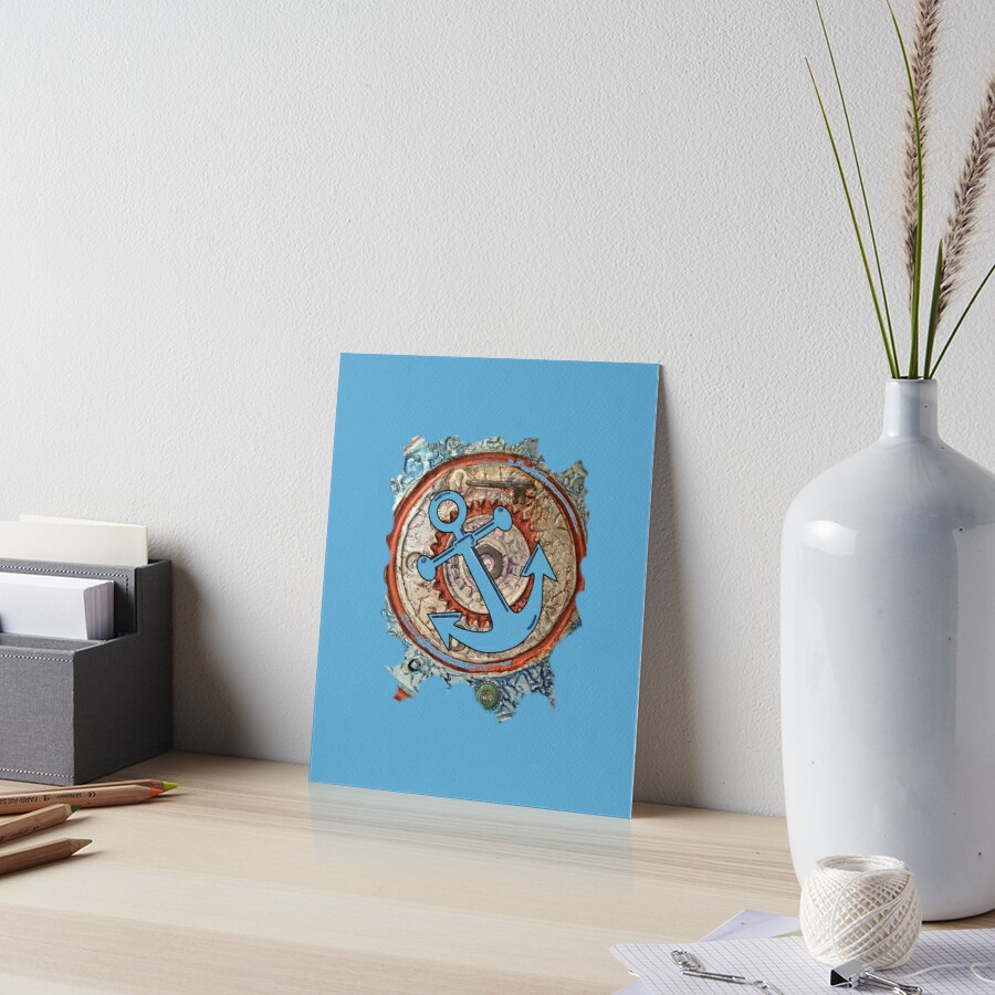 ANCHORS AWAY - BOAT ANCHOR Art Board Print