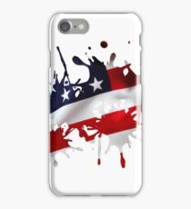 Stars and Sripes Splatter iPhone Case/Skin