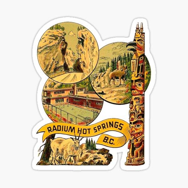 Radium Hot Springs BC Vintage Travel Decal Sticker