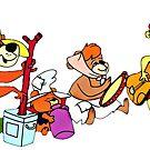 Die Hinterwäldler-Bären, Hanna-Barbara, Secret Squirrel von RainbowRetro