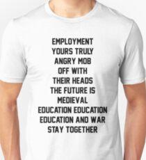 Kaiser Chiefs Album Titles Unisex T-Shirt