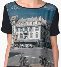 Strasbourg cathedral view in infrared, France Women's Chiffon Top