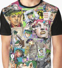 JJBA - Rohan Kishibe - Collage Graphic T-Shirt