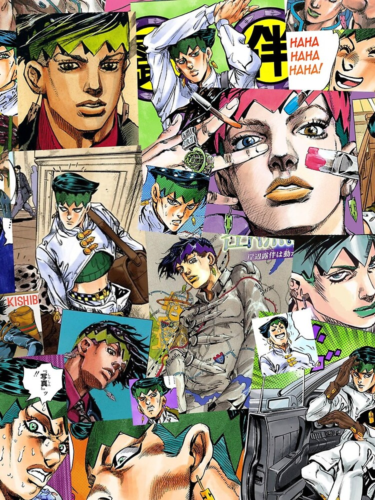 JJBA - Rohan Kishibe - Collage by jyeotoole
