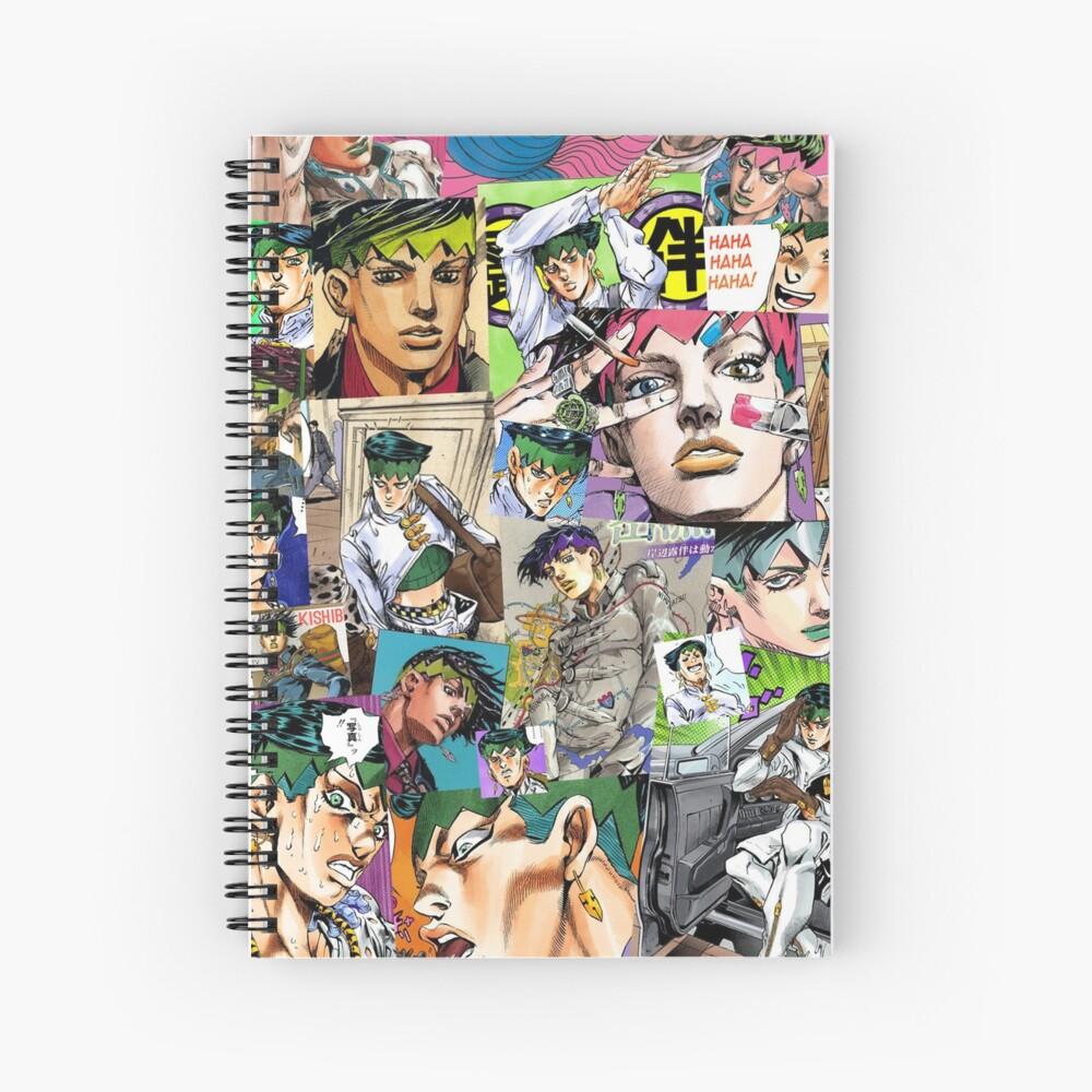 JJBA - Rohan Kishibe - Collage Spiral Notebook