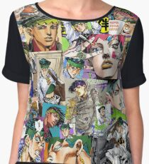 JJBA - Rohan Kishibe - Collage Women's Chiffon Top