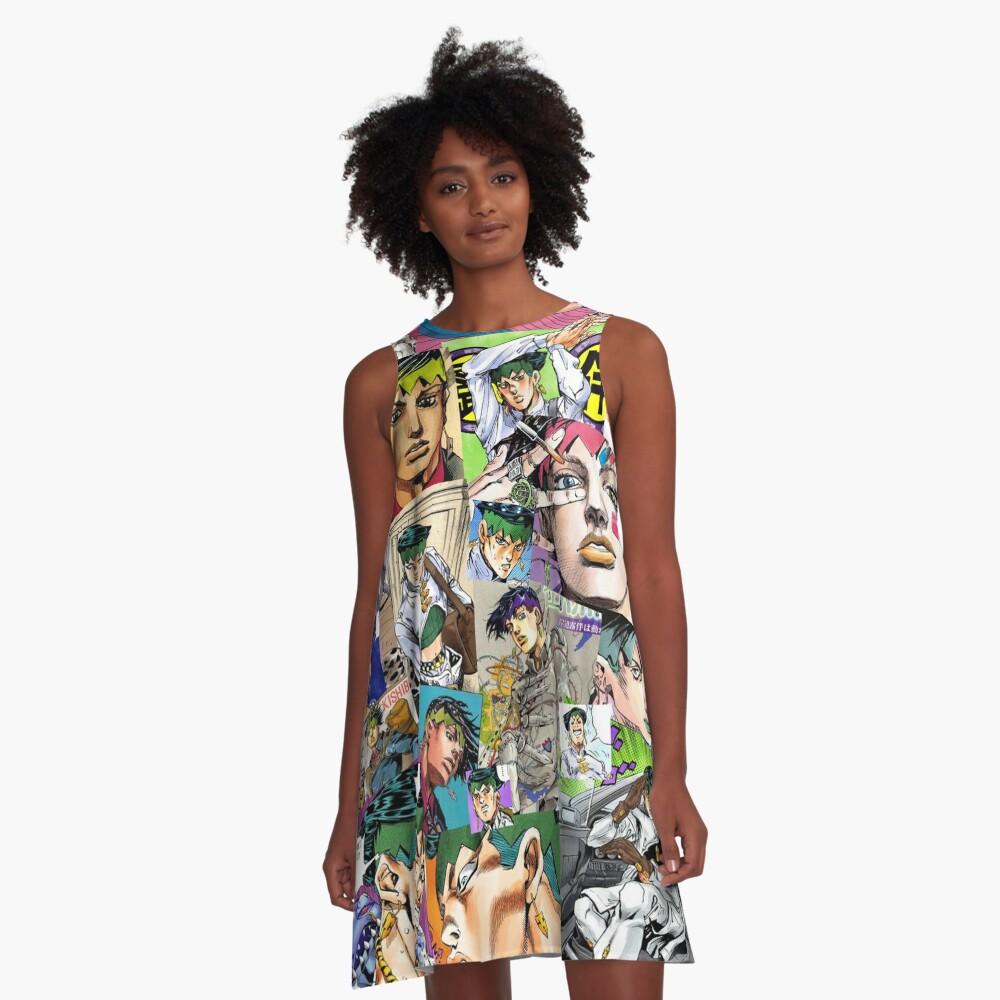 JJBA - Rohan Kishibe - Collage A-Line Dress