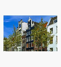 Editorial: 7th May 2017: Amsterdam, Holland: Spring sunny day in the city Photographic Print
