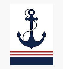 Nautical Anchor Photographic Print