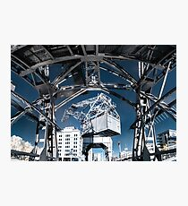Old metal cranes as the monument in Strasbourg, France Photographic Print