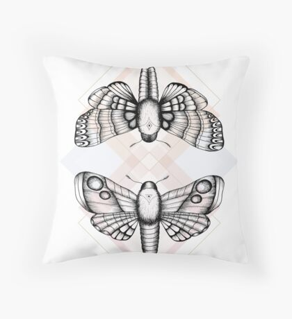 Polillas Throw Pillow