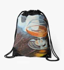 """Ale in a wine glass"" Drawstring Bag"