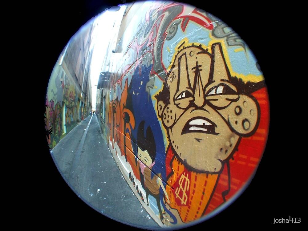 Street art with Fisheye in Melbourne by josha413