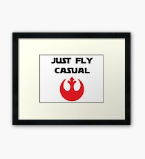 Just, Fly Casual Framed Print