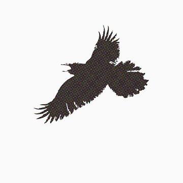 crow halftone by bondop