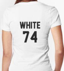 White 74 Women's Fitted V-Neck T-Shirt