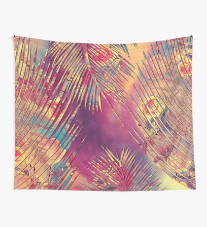 flowers palm beach Wall Tapestry