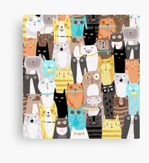 meow meow meow Canvas Print