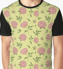 Seamless pattern flowers. Blooming peony Graphic T-Shirt