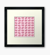 Paisley Watercolor in Rose Pink Framed Print