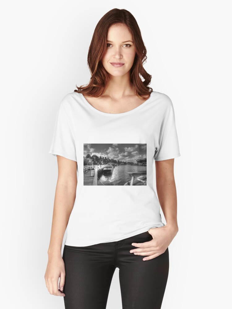 0464 Port Fairy Harbour  Women's Relaxed Fit T-Shirt Front