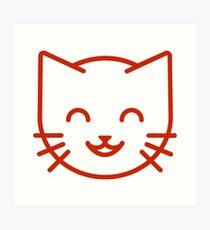 relax kitty Art Print