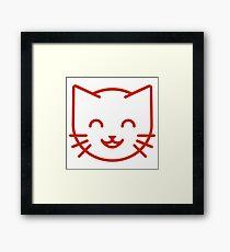 relax kitty Framed Print