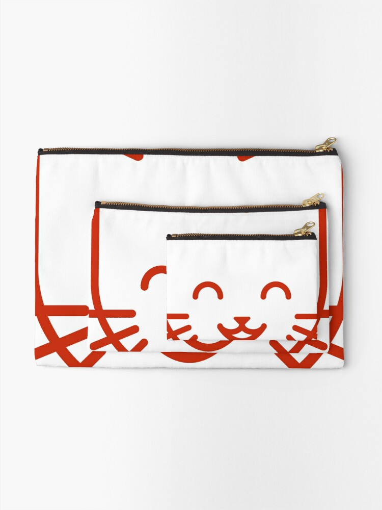 Alternate view of relax kitty Zipper Pouch