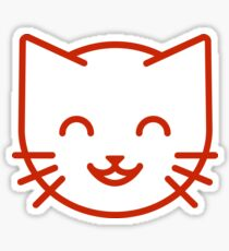 relax kitty Sticker