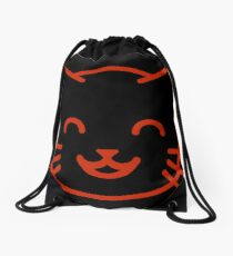 relax kitty Drawstring Bag