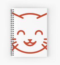 relax kitty Spiral Notebook