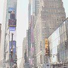 Times Square Street Scene by Dyle Warren