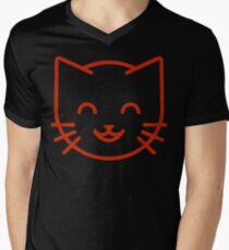 relax kitty Men's V-Neck T-Shirt