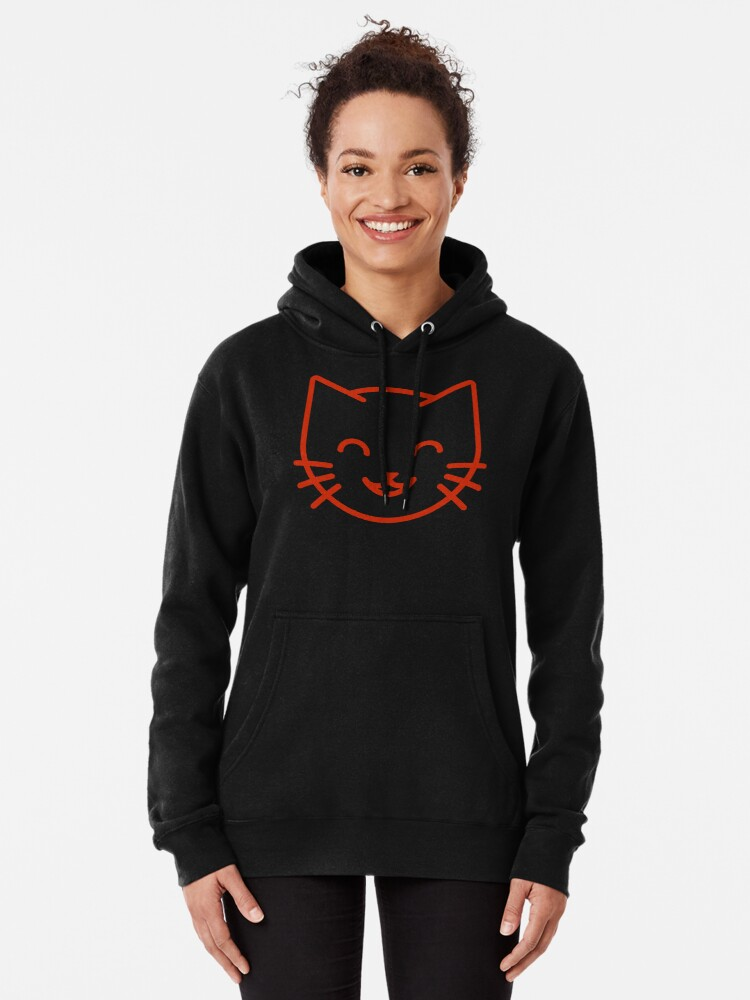 Alternate view of relax kitty Pullover Hoodie